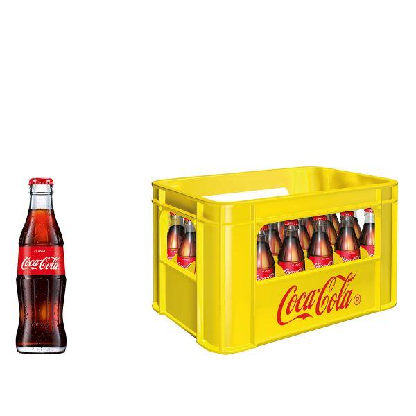 Coca Cola 24 x 0,2l Glas Kiste MEHRWEG