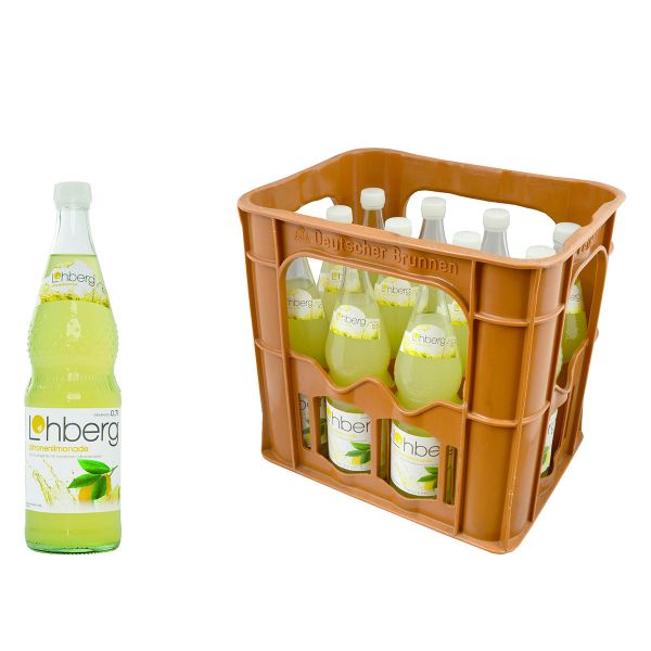 Lohberg Zitrone Liomande Trüb 12 x 0,7l Glas Kiste MEHRWEG