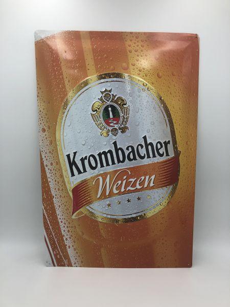 Krombacher Weizenbier Blechschild