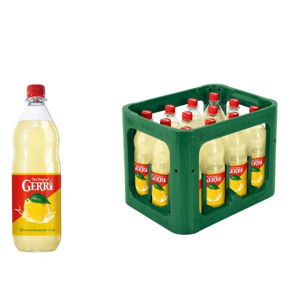 Gerri Zitronenlimonade trüb 12 x 1,0l PET Kiste MEHRWEG