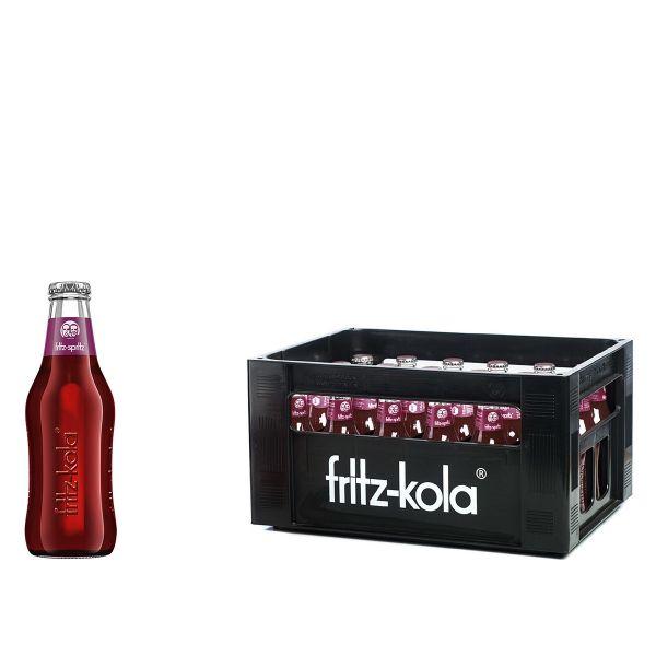 Fritz Bio Traubenschorle 24 x 0,2l Glas Kiste MEHRWEG