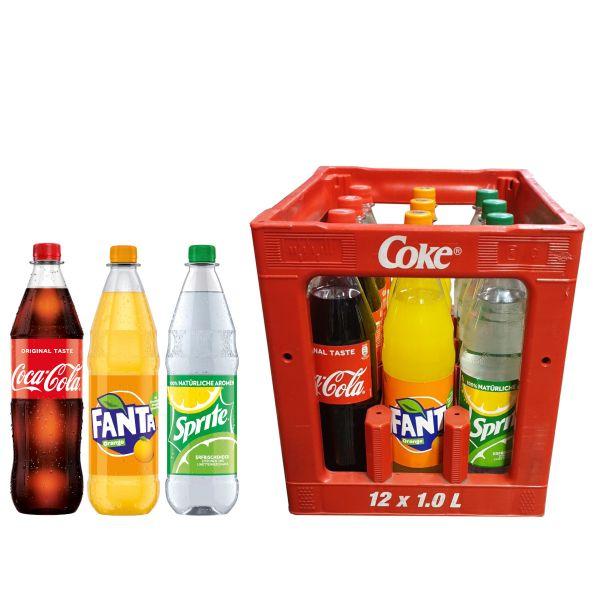 Coca Cola / Fanta / Sprite 12 x 1,0l