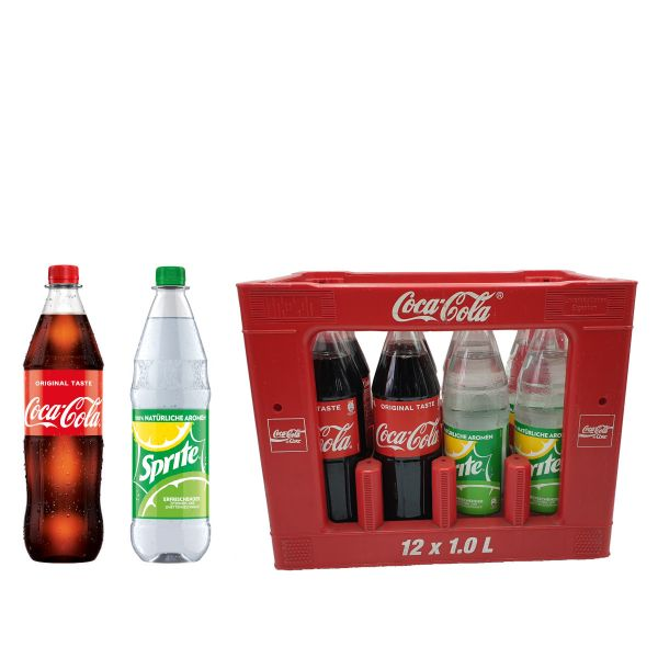 Coca Cola / Sprite 12 x 1,0l PET Kiste MEHRWEG