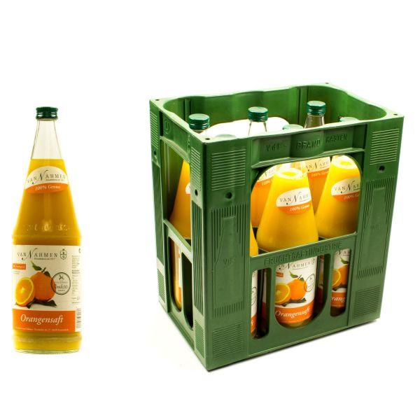 Van Nahmen Orangensaft 6 x 0,7l Glas Kiste MEHRWEG