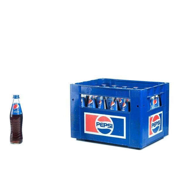 Pepsi Cola 24 x 0,33l Glas Kiste MEHRWEG
