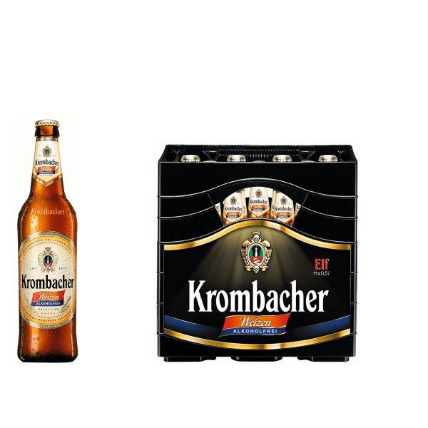Krombacher Weizen Alkoholfrei 11 x 0,5l Glas MEHRWEG
