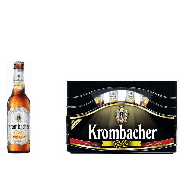 Krombacher Radler Alkoholfrei 24 x 0,33l Glas MEHRWEG