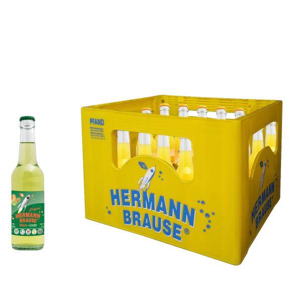 Hermann Brause Limonade Melone Limette 20 x 0,33l