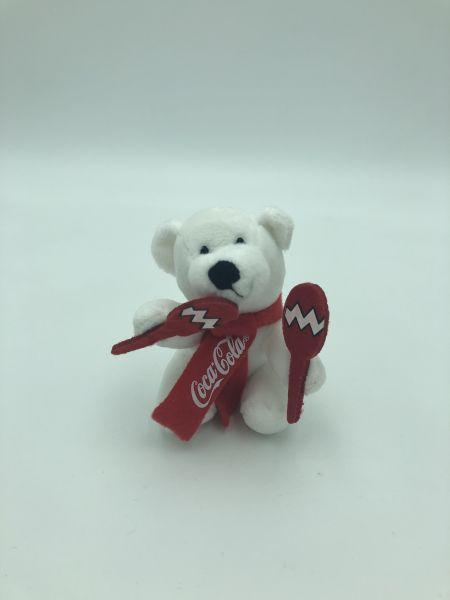 "Coca Cola Plüschbär ""Rasseln"""