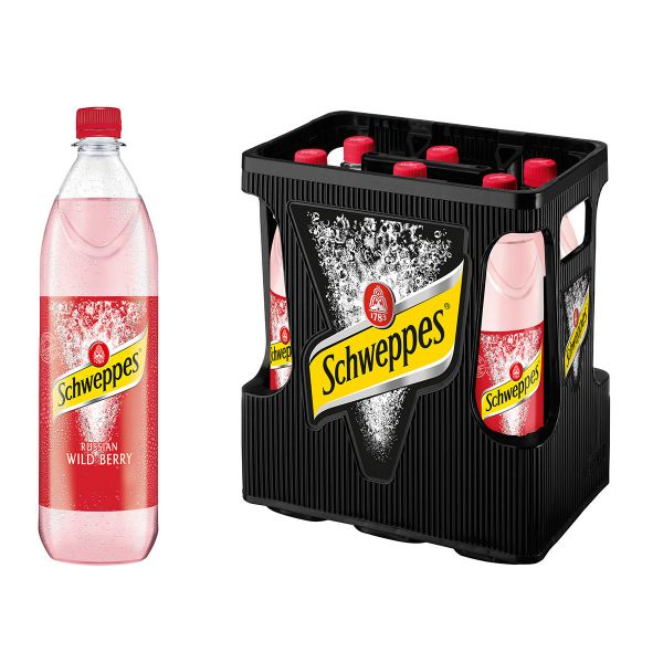 Schweppes Russian Wild Berry 6 x 1,0l PET Kiste MEHRWEG