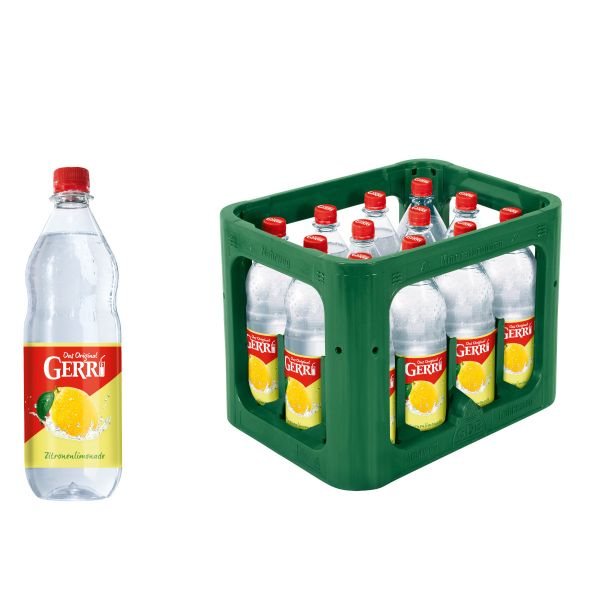 Gerri Zitrone PET 12 x 1,0l PET Kiste MEHRWEG