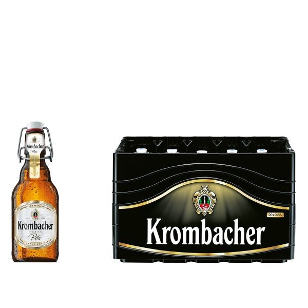 Krombacher Pils Bügel 20 x 0,33l Glas MEHRWEG