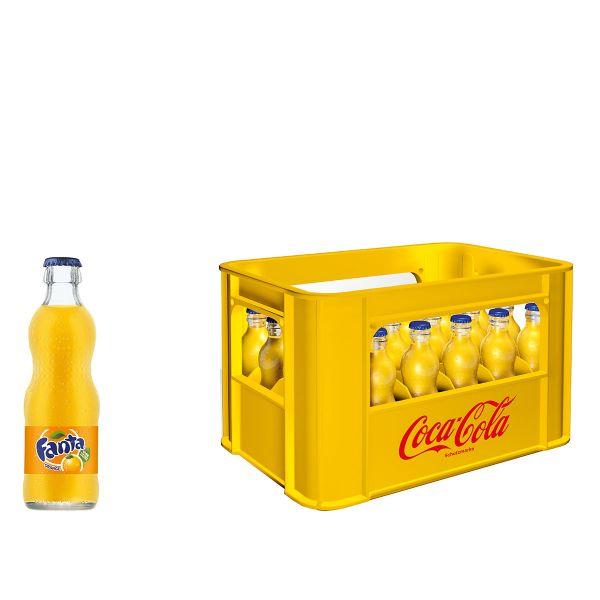 Fanta Orange 24 x 0,2l Glas Kiste MEHRWEG