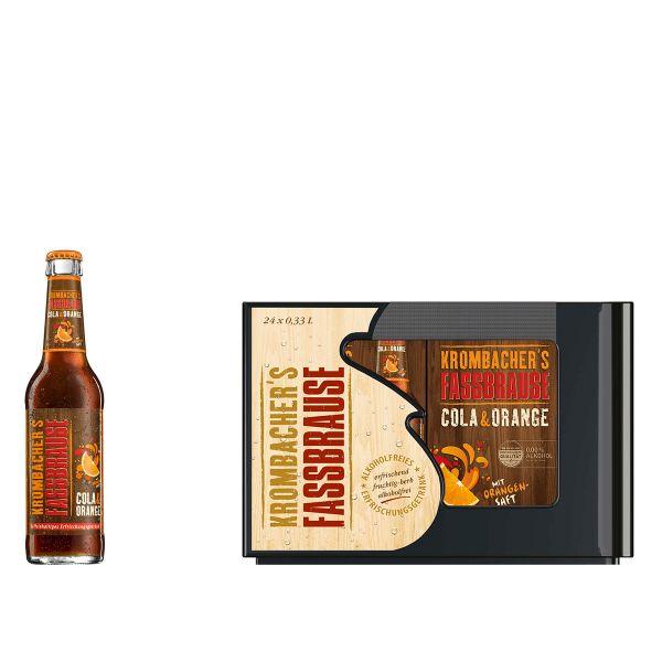 Krombacher Fassbrause Cola & Orange 24 x 0,33l Glas Kiste MEHRWEG