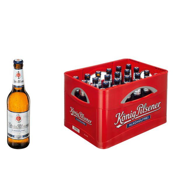 König Pilsener Alkoholfrei 24 x 0,33l Glas MEHRWEG