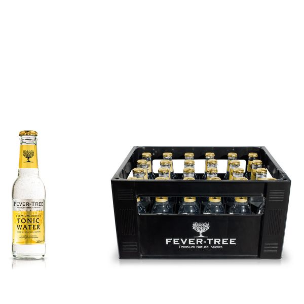 Fever-Tree Indian Tonic Water 24 x 0,2l Glas Kiste MEHRWEG