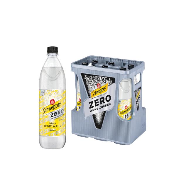 Schweppes Indian Tonic Water Zero 6 x 1,0l