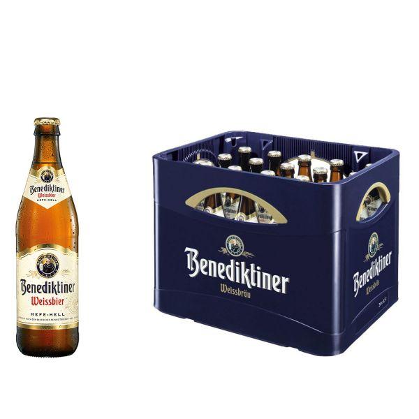 Benediktiner Weissbier Naturtrüb 20 x 0,5l Glas Kiste MEHRWEG