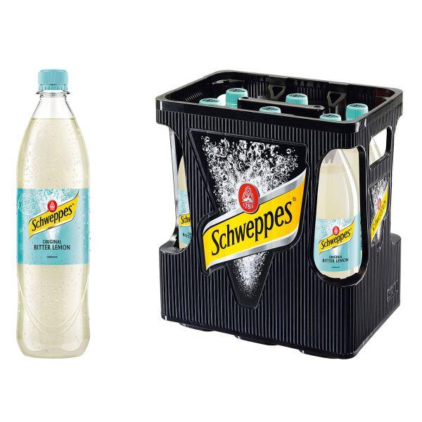 Schweppes Bitter Lemon 6 x 1,0l PET Kiste MEHRWEG