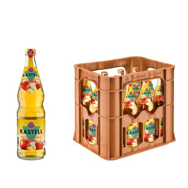 Kastell Apfelschorle 12 x 0,7l Glas Kiste MEHRWEG