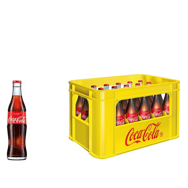 Coca Cola 24 x 0,33l Glas Kiste MEHRWEG