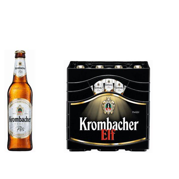 Krombacher Pils 11 x 0,5l Glas MEHRWEG