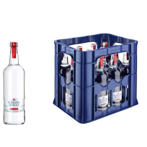 Schloss Quelle Gourmet sanfter Genuss 12 x 0,75l Glas Kiste MEHRWEG