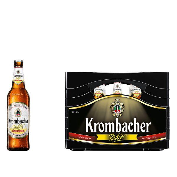 Krombacher Radler Alkoholfrei 20 x 0,5l Glas MEHRWEG