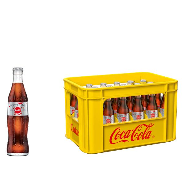 Coca Cola Light 24 x 0,33l Glas Kiste MEHRWEG