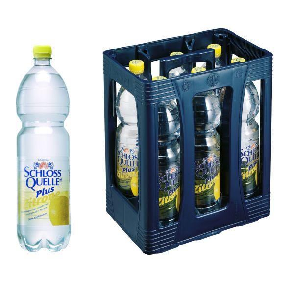Schloss Quelle Plus Zitrone 6 x 1,5l PET Kiste EINWEG