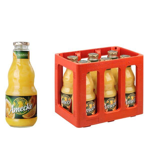 Amecke Orangensaft 6 x 0,7l Glas Kiste MEHRWEG