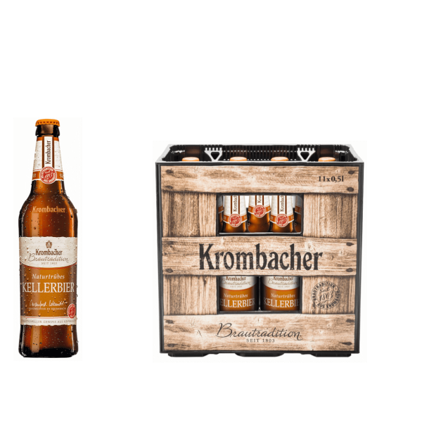Krombacher Brautradition Kellerbier 11 x 0,5l