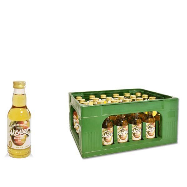 Möller Apfelsaft klar 24 x 0,2l Glas Kiste MEHRWEG
