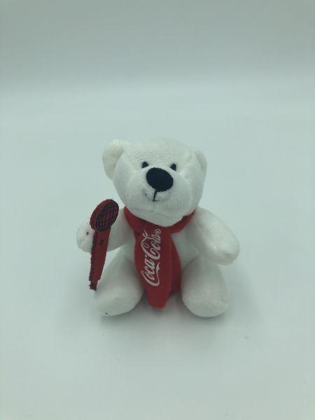 """Coca Cola Plüschbär """"Sänger"""""""