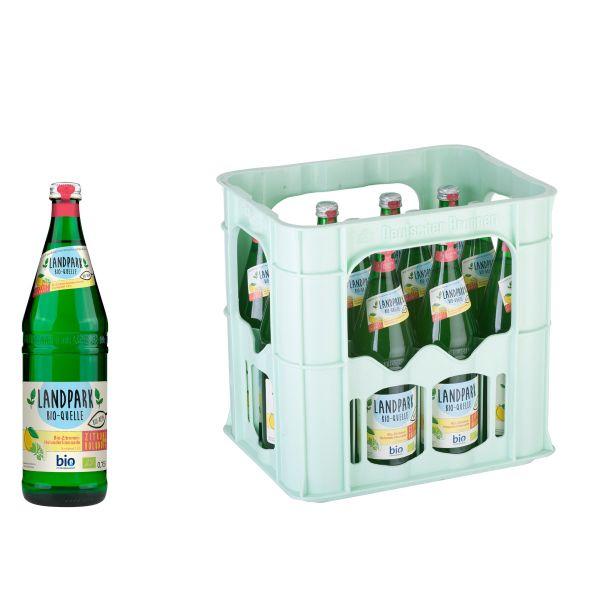 Landpark Bio-Limonade Zitrone-Holunder 12 x 0,7l Glas Kiste MEHRWEG