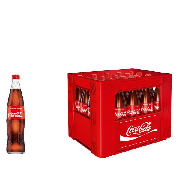 Coca Cola 20 x 0,5l Glas Kiste MEHRWEG