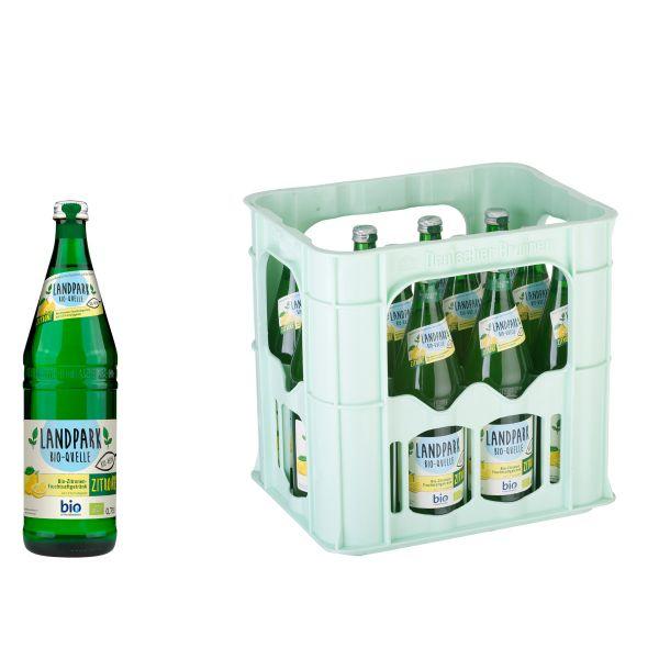 Landpark Bio-Limonade trübe Zitrone 12 x 0,7l Glas Kiste MEHRWEG