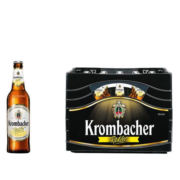 Krombacher Radler 20 x 0,5l Glas MEHRWEG