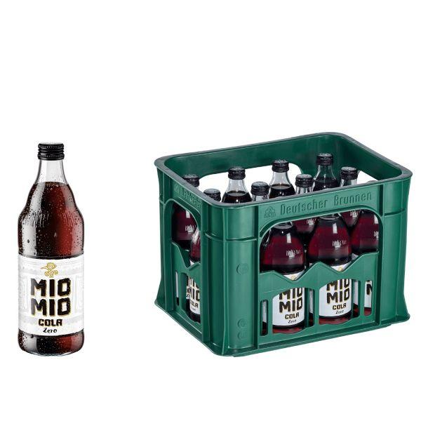 Mio Mio Cola Zero 12 x 0,5l Glas Kiste MEHRWEG