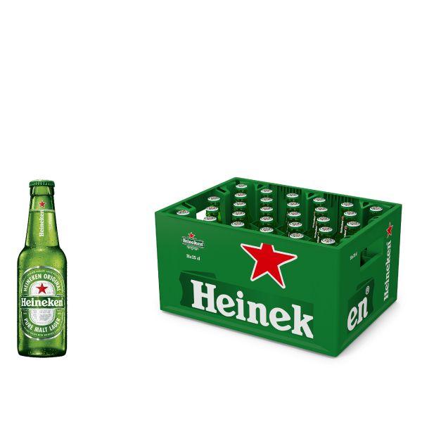Heineken Beer 28 x 0,25l Glas MEHRWEG