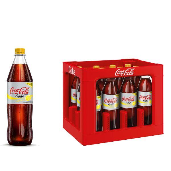 Coca Cola Light Lemon 12 x 1,0l PET Kiste MEHRWEG