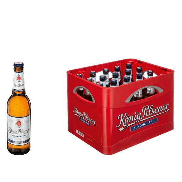 König Pilsener Alkoholfrei 20 x 0,5l Glas MEHRWEG