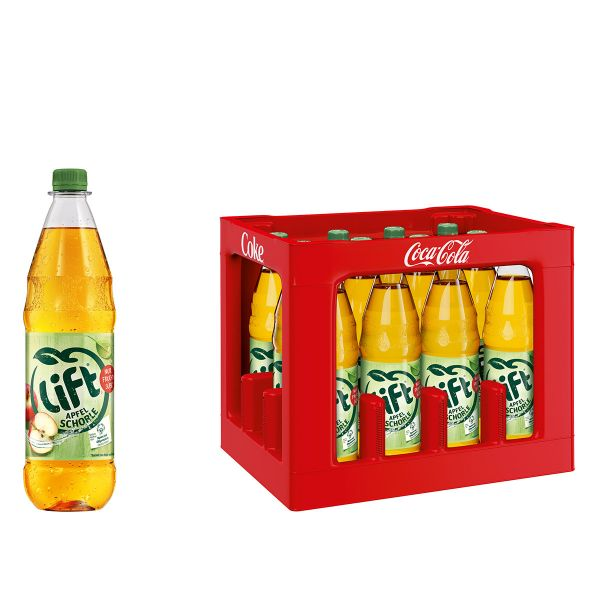 Lift Apfelschorle 12 x 1,0l PET Kiste MEHRWEG