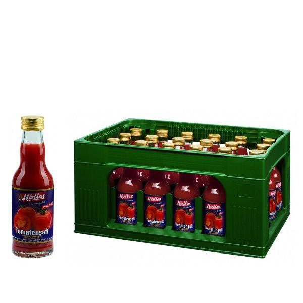 Möller Tomatensaft 24 x 0,2l Glas Kiste MEHRWEG