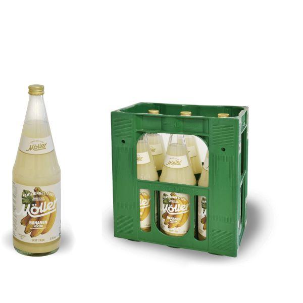 Möller Bananen-Nektar 6 x 1,0l Glas Kiste MEHRWEG