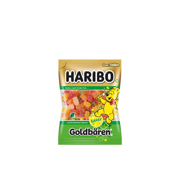 Haribo Saure Goldbären 200 g Beutel