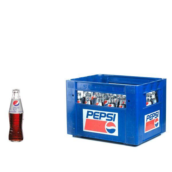 Pepsi Cola Light 24 x 0,2l Glas Kiste MEHRWEG