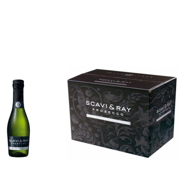 SCAVI & RAY Prosecco Frizzante 24 x 0,2l Glas
