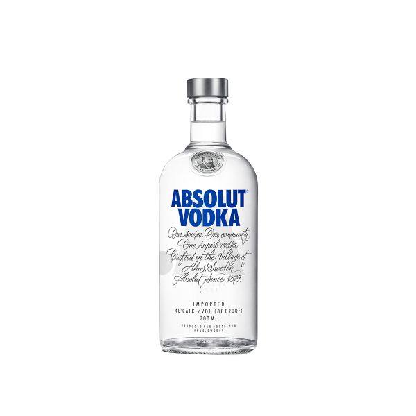 Absolut Vodka 40% 0,7l Glas