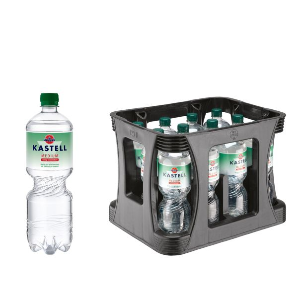 Kastell Medium 12 x 1,0l PET-C Kiste EINWEG
